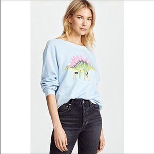 🆕 WILDFOX stegosaurus dinosaur blue pullover- S